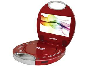 SDVD7046Red 7Inch Portable DVD Player with Integrated Handle Red