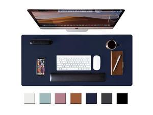 """Desk Pad Protector,Mouse Pad,Office Desk Mat,Non-Slip PU Desk Blotter,Laptop Desk Pad,Waterproof Desk Writing Pad for Office and Home (Dark Blue,36"""" x 17"""")"""