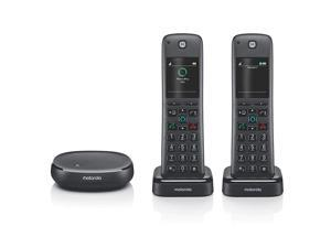 AXH02 DECT 60 Smart Cordless Phone and Answering Machine with Alexa Builtin 2 Cordless Handsets Included