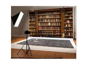 6x4ft Wooden Bookshelf Backdrop Library School Books Collection Photography Background Students Adult Artistic Photo Booth Shooting Studio Props