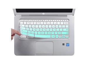 Keyboard Cover for HP 14 inch Chromebook/HP Chromebook 14-db Series/HP Chromebook 14-ca Series/HP Chromebook 14-ak Series/HP Chromebook 14 G2 G3 G4 G5, Ombre Mint Green