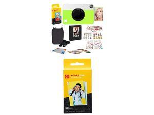 """Printomatic Digital Instant Print Camera Neon Green with  2""""x3"""" Premium Zink Photo Paper 50 Sheets"""