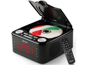 YW010 CD Player Clock FM Radio with USB Port Black