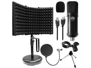 MX715 USB Condenser Microphone with SF2 Desktop Isolation Shield Bundle