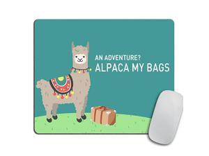 Mouse Pad Funny Llama Gift Travel Gifts for Mom Mousepad Office Decor Desk Accessories Cute Llama Gift