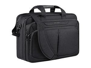 Laptop Bag 18 Expandable Lightweight Briefcase for 173 Laptop Premium Business Work Bag WaterRepellent Messenger Bag with RFID Pockets for SchoolTravelWomenMenBlack