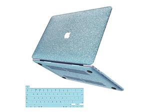 MacBook Pro 16 Inch Case 2019 Release A2141  Glitter Bling Smooth Protective Laptop Shell Slim Snap On Case with Keyboard Cover Compatible for Mac Pro 16 with Touch Bar and Touch ID Loyal Blue