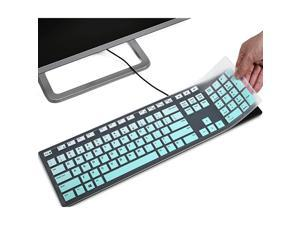 Cover Compatible with Dell Wired KB216 amp Dell KM636 KM636V2 Wireless Anti Dust Waterproof Protective Skin Ombre Mint Green