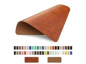 Leather Mouse Pad with Stitched Edge MicroFiber Base with NonSlip Waterproof Mouse Pad for Computers Laptop Office Home1 Pack 8inch11inch Brown 20