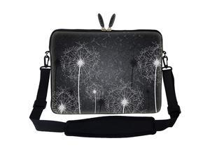 17 173 inch Neoprene Laptop Sleeve Bag Carrying Case with Hidden Handle and Adjustable Shoulder Strap Black White Dandelion