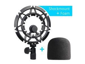 Blue Yeti Shock Mount with Foam Windscreen Alloy Shockmount Reduces Vibration With Blue Yeti Pop Filter Compatible for Blue Yeti and Yeti Pro Microphone by