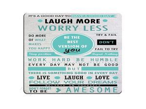 Design Mouse Pad Inspirational Quotes Laugh More Worry Less Dont Forget to Be AwesomeQuote pad CustomOffice Mouse pad Nature
