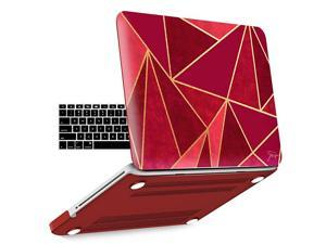 MacBook Pro 13 Inch case A1278 Release 20122008 Plastic Hard Shell Case with Keyboard Cover for Apple Old Version Mac Pro 13 with CDROM Ruby P13RUBY+1A