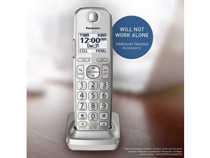 Panasonic Cordless Phone Handset Accessory Compatible with KXTGE463S KXTGE474S KXTGE475S Series Cordless Phone Systems KXTGEA40S Silver