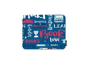 Motivational Quote Gaming Mouse Pad Love Book Reading Calligraphic Letter Blue Wallpaper Decorative Mousepad Rubber Base Home Decor for Computers Laptop Office Home 79X95 Inch