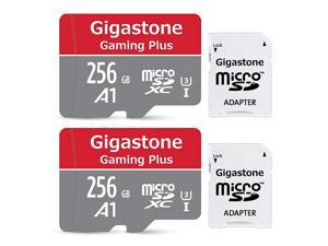 256GB 2Pack Micro SD Card Gaming Plus Nintendo Switch Compatible RW 10060MBs 4K Video Recording Micro SDXC UHSI A1 U3 Class 10 with Adapter