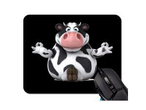 PadFun Cow Pad Rectangle NonSlip Rubber pad Office Accessories Desk Decor Pads for Computers Laptop