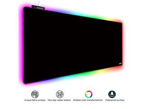 RGB Gaming Mouse Pad Extra Large Gaming Mouse Mat for Gamer Waterproof Office DEST Mat with 10 Lighting Mode for PC Computer RGB Keyboard Mouse 315 x 118 x 4mm Fantasy