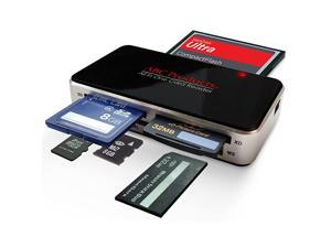 All in One USB Multi Digital Camera Cell Phone Mobile Picture Memory Card Reader Writer USB Plug n Play Digital Photo Frame Transfer Reads All Cards Except Smart Media Cable Included