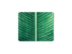 Tropical Green Leaves Mouse Pad Summer Natural Plant Outdoor Vibrant Banana Leaves Gaming Mouse Mat NonSlip Rubber Base Thick Mousepad for Laptop Computer PC 95x79 Inch