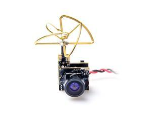 S2 58G 48CH 25mW VTX 600TVL 13 Cmos AIO FPV Camera with Clover Antenna for FPV Drone Like Tiny Whoop Blade Inductrix etc