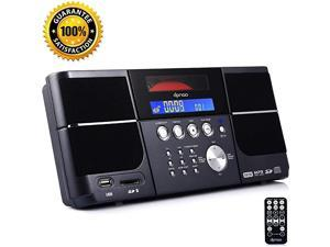 Cd Player Portable Boom Box with Clock FM Radio Clock USB SD Aux Linein for Lap top Home Kids