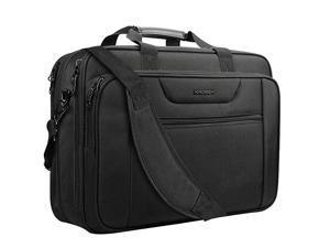 185 Laptop Bag XXL Laptop Briefcase Fits Up To 18 Inch Laptop WaterRepellent Gaming Computer Bag Shoulder Bag Expandable Capacity For TravelBusinessSchoolMenBlack