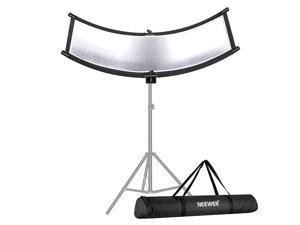 Clamshell Light ReflectorDiffuser for Studio Video and Photography with Carrying Bag 39x18Inch100x45CM Arclight Curved Eyelighter Lighting Reflector BlackWhiteGoldSilver