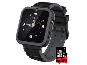 Watch for Kids Boys Girls 157 HD Touch Screen 7 Puzzle Game Music Player watch with Alarm Clock Recorder Torch for Children Birthday Learning Gifts Teen Students Black