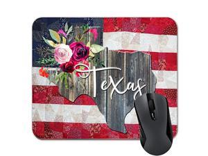 State Map Mouse Pad American Flag Mousepad Patriotic Desk Accessories D¨¦cor