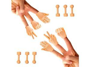 Tiny Hands Rock Paper Scissors + Holding Sticks 6 Pack + 6X Holding Sticks Right Hands Only