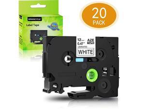 20 Pack Compatible for Brother TZ TZe 231 TZ231 TZe231 Standard Label Tape for PTouch PTD210 PTH100 PTD400AD PTD600 Label Maker 12mm 12 Inch x 8m 262 ft Laminated Black on White