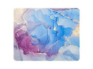Gaming Mouse Pad with Stitched Edges PremiumTextured Mouse Mat Pad NonSlip Rubber Base Mousepad for Laptop Computer PC 102×83×012 inches Modern Blue Art Marble Texture