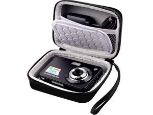 Protective Case for Digital Camera AbergBest 21 Mega Pixels 27 LCD Rechargeable HDCanon PowerShot ELPH 180190 Sony DSCW800 DSCW830 Cameras for Travel Black