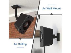 Or Ceiling Mount for Logitech Z906 51 Surround Sound Speaker System Tilt and Swivel Adjustable Mounting Bracket for Logitech Z906 Satellite Speakers Mounts
