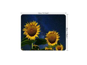 Under The Milky Way Sunflower Mouse Pad Neoprene Rectangular Mouse Pad Office Computer Accessories Mouse Pad Game Mouse Pad