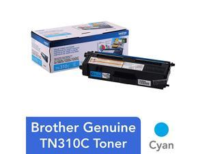 Genuine Standard Yield Toner Cartridge, TN310C, Replacement Cyan Toner, Page Yield Up To 1,500 Pages, TN310