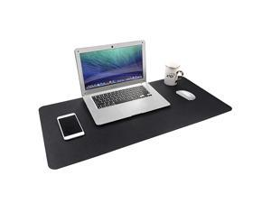 Multifunctional Office Desk Pad Dual Sided PU Leather Mouse Pad Thin and Waterproof Desk Blotter Protector Desk Writing Mat for OfficeHome Black 315 x 157