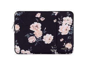 Laptop Sleeve Compatible with 13133 inch MacBook Pro MacBook Air Notebook Computer Polyester Vertical Camellia Bag with Pocket