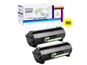 2 Pack Compatible Dell S2830 High Yield Laser Toner Cartridge Replacement for Dell S2830 S2830dn 2830dn 2830 dn Printer Ink 8500 Pages 2 Black