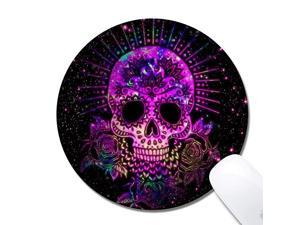 Round Mouse Pad Printed Skull Pattern NonSlip Rubber Comfortable Customized Computer Mouse Pad 787x787inch