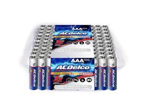 100-Count AAA Batteries, Maximum Power Super Alkaline Battery, 10-Year Shelf Life, Recloseable Packaging