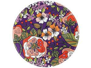 Mouse Pad Purple Morning Glory Round Mousepad Customized Gaming Mouse Mat for Laptop Computer PC Durable Stitched Edges NonSlip Rubber Base Enhanced Thickness Waterproof