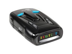 CR73 High Performance Laser Radar Detector 360 Degree Protection and Bilingual Voice Alerts Black
