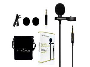 Best Small Mini Lavalier Lapel Omnidirectional Condenser Microphone for Apple iPhone Android Windows Cellphones Clip On Interview Video Voice Podcast Noise Cancelling Mic Blogger Vlogger