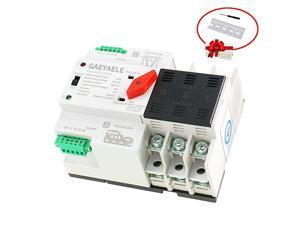 W2R3P Din Rail Mounted Automatic Transfer Switch Three Phase ATS 100A Power Transfer Switch W2R 3P 63A