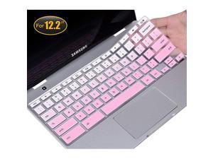 Keyboard Cover Compatible 2019 2018 Samsung Chromebook Pro 122 Samsung Chromebook Plus XE520QAB XE525QBB XE521QAB 122 inch Anti Dust Waterproof Protective Skin Gradual Pink