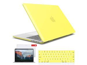 New 2020 MacBook Pro 13 Inch Case M1 A2338 A2289 A2251 A2159 A1989 A1706 A1708 Hard Shell Case Keyboard Cover Screen Film for Apple Pro 13 Touch Bar20202016 Yellow T13YW+2