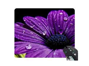 Pad Purple Daisy 17176 Oblong Shaped Mat Design Natural Eco Rubber Durable Computer Desk Stationery Accessories Pads For Gift