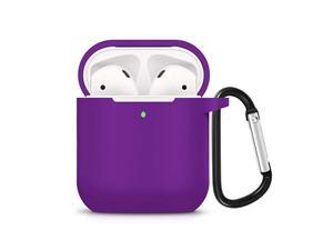 Compatible for AirPods Case with Keychain Shockproof Protective Premium Silicone Cover Skin for AirPods Charging Case 2 1 AirPods 2 Purple
